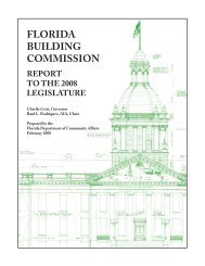 The Florida Building Commission Report to the 2008 Legislature