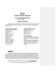 Minutes - Florida Building Code Information System