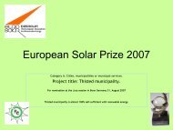 Solar Prize 2007 - Nordic Folkecenter for Renewable Energy