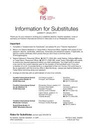 information sheet - Frankfurt International School