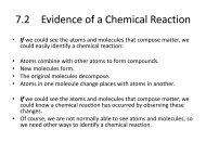 7.2 Evidence of a Chemical Reaction