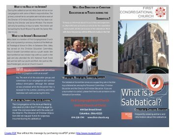 Sabbatical Trifold letter size.indd - The First Congregational Church