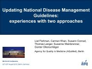 Updating National Disease Management Guidelines: experiences ...