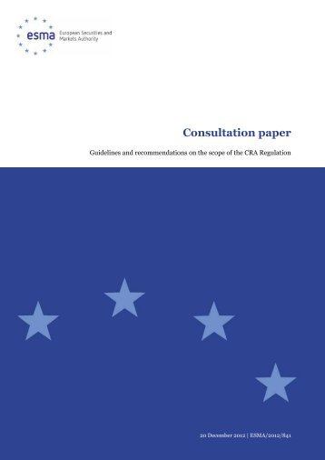 Consultation paper - Financial Risk and Stability Network