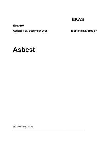 EKAS-Richtlinie - Forum Asbest Schweiz