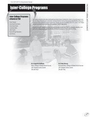Inter-College Programs - Frostburg State University