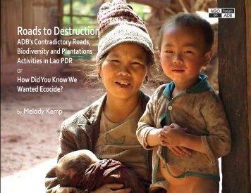 Roads to Destruction - NGO Forum on ADB