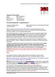 Tagebuch Internet-Blog Autor: Samuel Albrecht ... - GastroSuisse