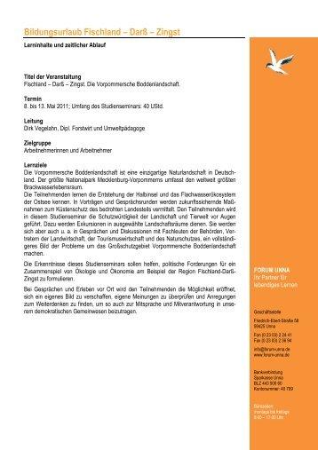 Programm Fischland-Darss-Zingst Mai 2011 - forum unna