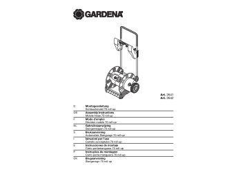 OM, Gardena, Carrello avvolgitubo 70 roll-up, Art 02641-20, 02642 ...