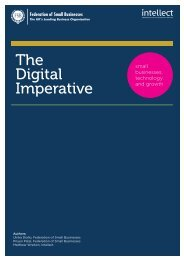 The Digital Imperative: small businesses, technology and ... - Intellect