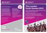 download the London Youth Games (pdf 297kb) - Fusion Lifestyle