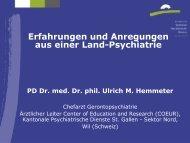 PD Dr. Ulrich M. Hemmeter - Forum Gesundheitswirtschaft Basel