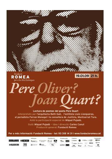 Joan Quart? Lectura de poemes de la 3a ... - Fundació Romea