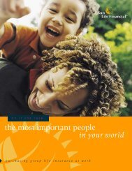 SunLife Group Term Life Brochure