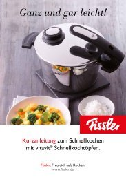 Download Kurzanleitung (pdf) - Fissler GmbH