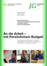 Abschlussbericht - Fakultät Rehabilitationswissenschaften - TU ...