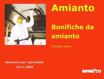Bonifica da amianto - FACH - SuvaPro - Forum Asbest Schweiz