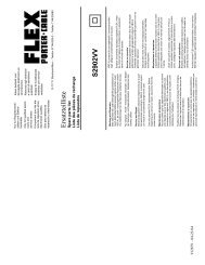 Ersatzteilliste Spare parts lis S2902VV - Flex
