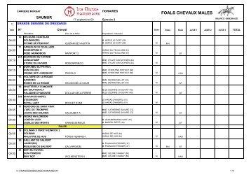 Horaires individuels du 17 (pdf) - France Dressage