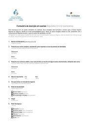 Formulário de inscrição em exames - Escola Nacional de Seguros