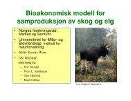 Bioøkonomisk modell for samproduksjon av skog og elg - Norges ...