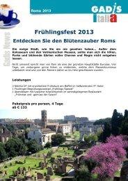 Frühlingsfest 2013 Entdecken Sie den Blütenzauber Roms
