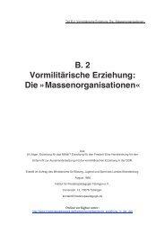 B. 2 Vormilitärische Erziehung: Die »Massenorganisationen«