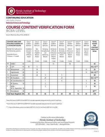 View Course Content - Florida Institute of Technology