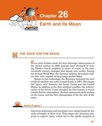 Chapter 26 Earth and Its Moon