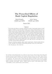 The Procyclical E ects of Bank Capital Regulation