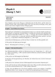 Physik II Übung 7, Teil I