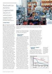 Radioaktive Abfälle - Forschung Frankfurt - Goethe-Universität