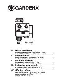 OM, Gardena, Programmateur electronic T 1030, Art 01805-20 ...