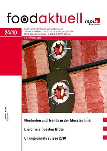 Neuheiten und Trends in der Messtechnik Die ... - Foodaktuell.ch