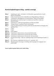 bilag til kontrolvejledningen i samme pdf - Fødevarestyrelsen