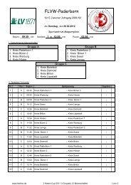 Drei Hasen Cup 2012 Spielplan - FLVW Kreis Paderborn