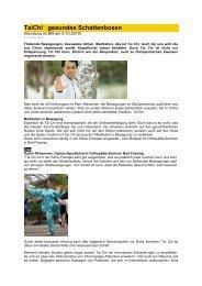 TaiChi Schattenboxen BR 5 - Forum-Bioenergetik eV