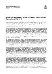 Berufsbildungskonferenz Empfehlungen ICT - Kanton Zürich