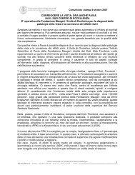 Correggere la vista - Fondazione Salvatore Maugeri
