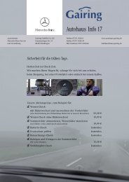 Autohaus Info 17 - Gairing GmbH & Co. KG