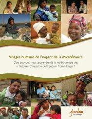 Visages humains de l'impact de la microfinance - Freedom from ...