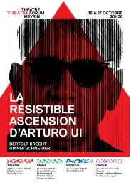 LA RÉSISTIBLE ASCENSION D'ARTURO UI - Forum-Meyrin