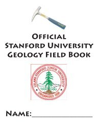 GEOLOGY FIELD bOOk - Stanford University