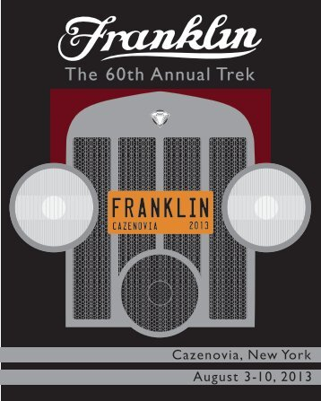 Cazenovia Trek Registration Materials - HH Franklin Club, Inc.