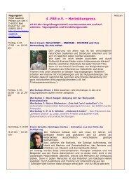 4 .FBE e.V. ? Herbstkongress - Forum-Bioenergetik eV
