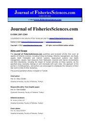 Journal of FisheriesSciences - FisheriesSciences.com
