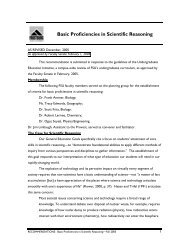 Basic Proficiencies in Scientific Reasoning - Frostburg State University