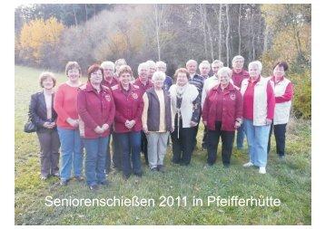 Seniorenschießen 2011 in Pfeifferhütte - Gau ANB