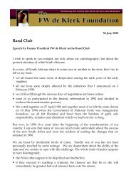 Rand Club - FW de Klerk Foundation